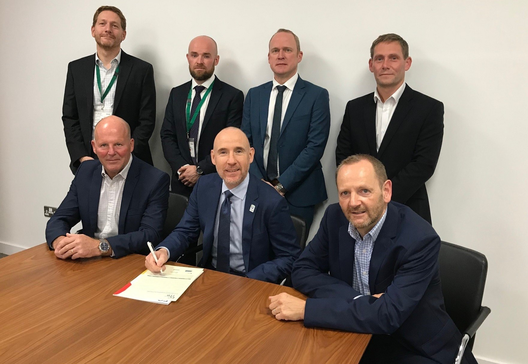 Members of the new Industry Council sign the charter in Aberdeen