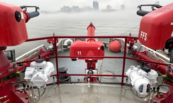 IQ part-turn intelligent actuators installed on the New York City Fire Department's fireboats