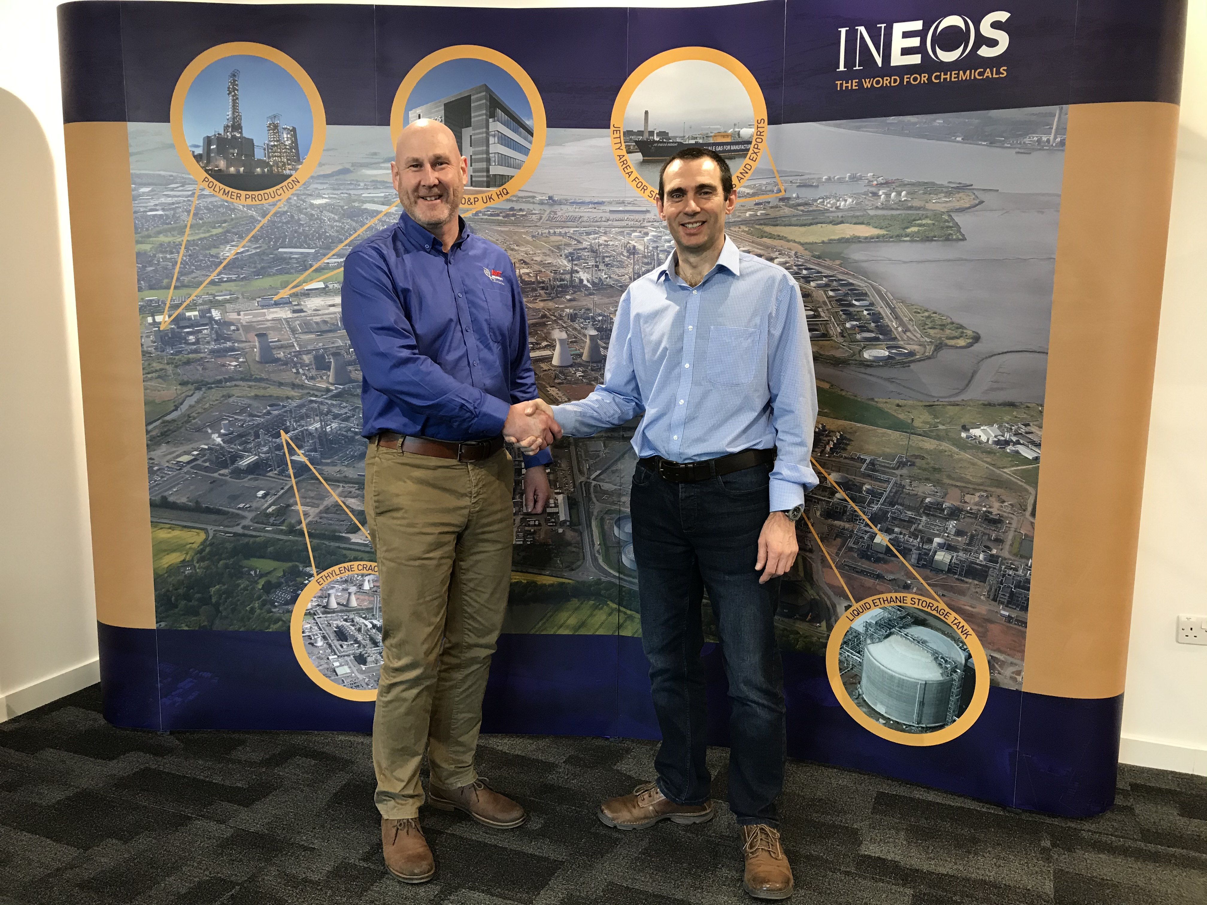 Paul Stamper, Head of Operations at AVT Reliability and John Burles, Machinery Specialist, Machinery Engineering at INEOS Olefins and Polymers, UK. (Image taken pre-social distancing)