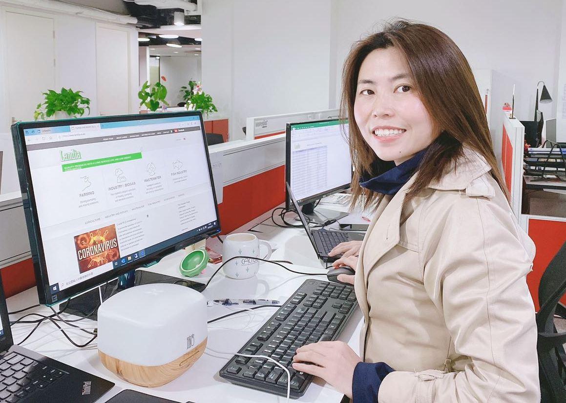 Ya Sun back at her desk