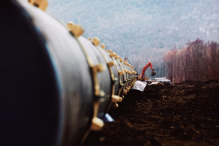 A new pipeline being bult