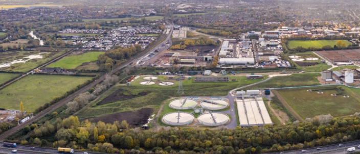 An aerial view of the site