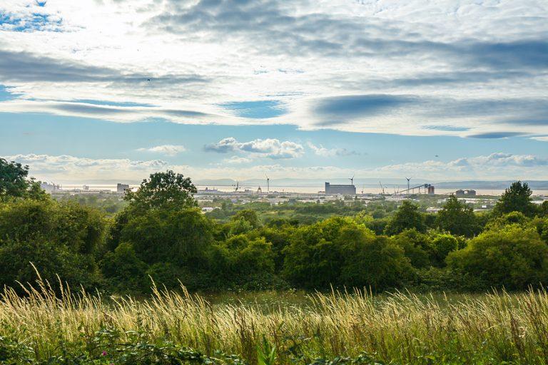 The skyline overlooking Avonmouth