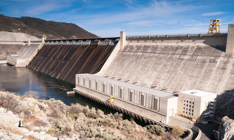 A view of the impressive dam