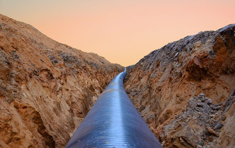 The pipeline links the two countries