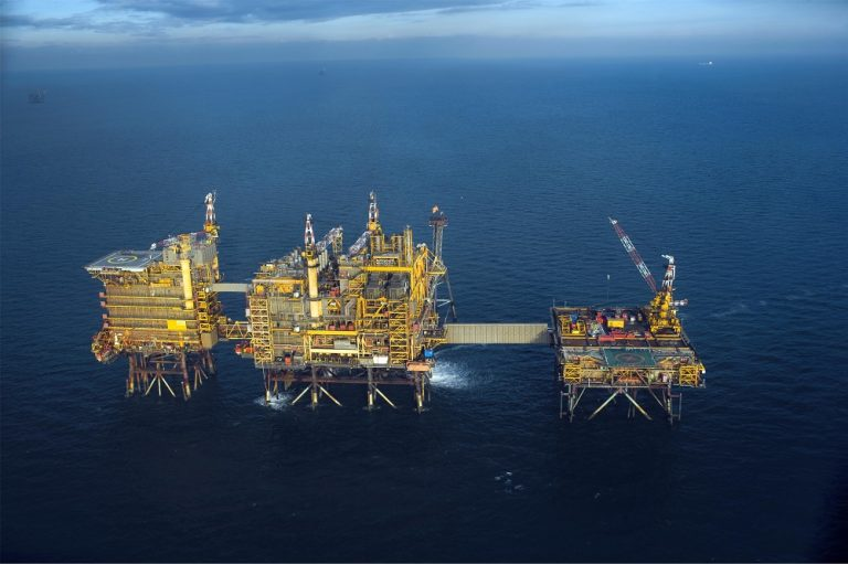 The offshore gas field