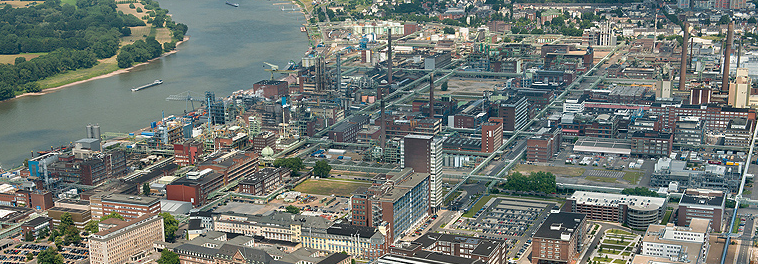 An aerial view of the site before the blast